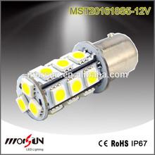 1156 1157 t20 Signal led lamp 18 smd 5050 turning light, 12V dc polarity No error reversing lamp