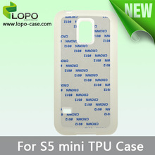 Printable Sublimation TPU Mobile Phone Case for Samsung S5 mini with metal insert
