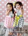 moda algodão chevron vestidos de princesa para crianças atacado
