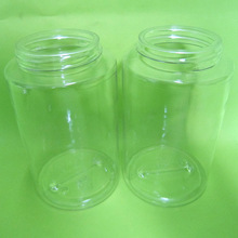 PET cylinder top quality clear plastic jar for candy to many countries