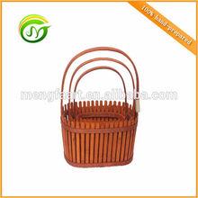 Chinese style wood fence basket elliptic type