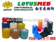 2014 hot sale Non-woven cohesive elastic bandage /horse cohesive bandage