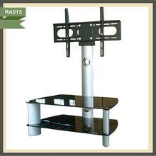 2014 revolving mirror modern plasma glass lcd tv cabinet RA013