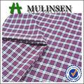 Mulinsen venta caliente de alta calidad tejido llano peinado hilo algodón 100% teñido de tela escocesa para el uniforme escolar