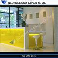 acrílico tw led moderna de recepción de recepción de muebles muebles de escritorio