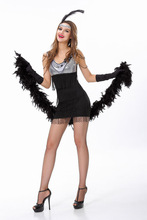 Wholesale and drop ship Costume Supper Sexy Women's Flapper halloween fancy dresses Cosplay outfit best quality fast delivery