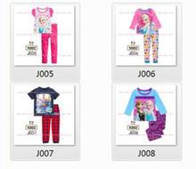 Boys Girls Cartoon Pajamas Sets Kids Autumn -Summer Clothing Set New 2014 Wholesale Children Casual 8-12Y Pyjamas J005-008