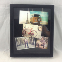 party decoration Photo Frame DIY Hanging Plated Clips with Photos - 5P peel and stick wall decor wall mirror
