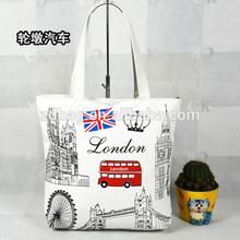 2014 canvas cotton tote bag , Canvas Expandable File Tote Bag