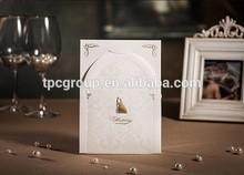 Low Price 3D Bride and groom romantic wedding invitation card