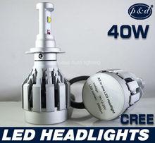 Auto lighting cree 6000k 40w 4000lumen h7 led headlight