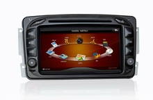 2 din 7' HD touch screen GPS Car DVD Player with audio,video,radio,ipod,map,SD card ,multimedia player for MERCEDES BENZ W203