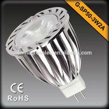 Factory Sale 12V LED Spotlight 6W MR16 Warm white