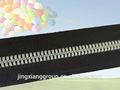 guangzhou jingxiang couro metal zipper zipper de nylon para rolos de plástico transparente com zíper do saco
