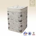 envase de bambu de madera hechos a mano de moda obstaculizar lavandería cestas