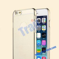 High qualtiy TOTU Design Breeze Series Electroplate Stripes Pattern Ultraslim Hard PC Case for iPhone 6 4.7 inch(Gold)