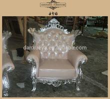 luxury single upholstery Wooden sofa