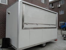 Yieson High Quality snack trailer china stainless steel food carts vending vans YS-FV350