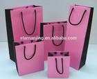 pink+black paper shopping bags