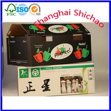 customized high quality corrugated vegetable fruit box dry fruit gift box