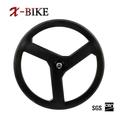 xbike de alta rigidez t1000 ligero de bicicleta de carretera de carbono tubular 3 radios de bicicletas de peso de la rueda