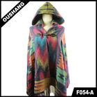 F054-A Latest Poncho With Hats Scarf Shawl poncho scarve wrap