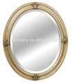 البيضاوي إطار المرآة نحت الخشب لتزيين الحائط