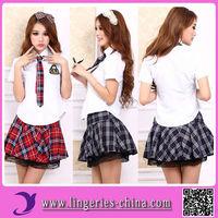 2014 Hot Sale Private School Sexy Girls Costume