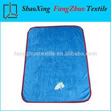 children embroidered plush sherpa fleece blanket for gift