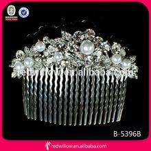 Princess import big Crown Tiara pearl rhinestone bridal hair comb types of hair combs