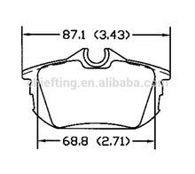 D838 3085097-8 for Mitsubishi Volvo rear brake pad