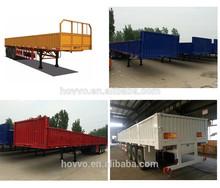 3 axle side wall open/column board semi trailer with fender box trailer semi trailer