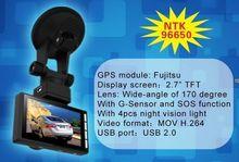Chelong 2.7 Inch LTPS Two card slot GPS SOS G-Sensor photo mode 5.0 mega car dvr