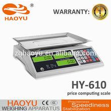 High quality 15kg 30kg 40kg 60kg digital price computing scale manufacturer