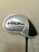 Neoprene leather silver color golf iron club head cover
