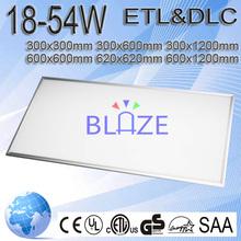 Dimmable Flat Slim led ceiling panel light 10mm 12mm Optional