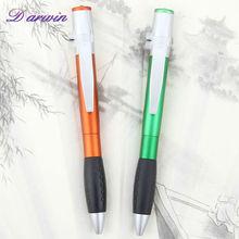 Plastic with the light ballpoint pen advertisement sample