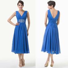Grace Karin Sleeveless V-Neck Chiffon Sequins Ball Evening Bridesmaid Dress CL6269