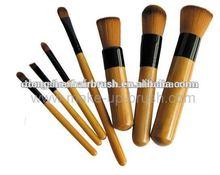 New 7 piece bamboo handle professional cosmetic brush/make up brush/makeup brushes