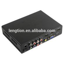 AV CVBS YPbPr VGA USB media HDMI to HDMI Converter 720p and 1080p for home theater hotel install