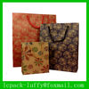 Printed& Eco drawstring kraft paper Euro tote bags