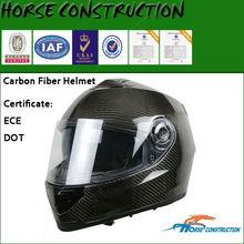 carbon fiber or glass fiber motorcycle full face helmets (DOT&ECE certification)