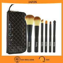 6pcs emily crystal makeup brushes