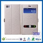 C&T Luxury Window Standing Flip Smart View PU Leather Case Cover for XIAOMI MI3 MI 3