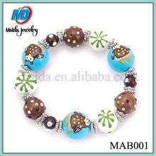Fashion jewelry Animal painted small beads bracelet MAB001