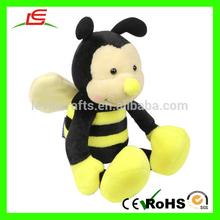 E063 Yellow Sit Bee Plush Stuffed Toys
