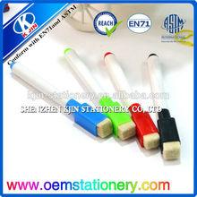 magnetic dry wipe whiteboard/mini whiteboard marker with brush