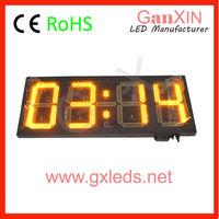 "Large 14"" yellow led light digital countdown crossfit timer"