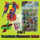 Transform Dinosaurs Robot Block Toy (can add candy)