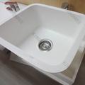 Personalizado pmma resina pedra gel- revestimento branco brilhante piasdecozinha